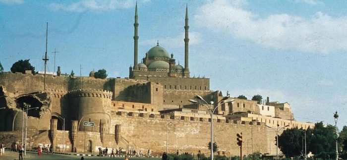 In Cairo, the Muhammad Ali Mosque, completed in 1857, sits atop the large citadel, begun by Saladdin in 1179.