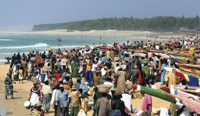 Market on the beach in Kayar