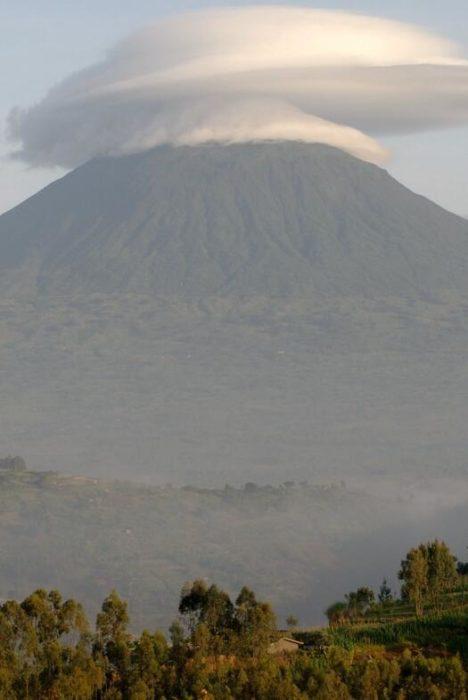 The Muhabura volcano
