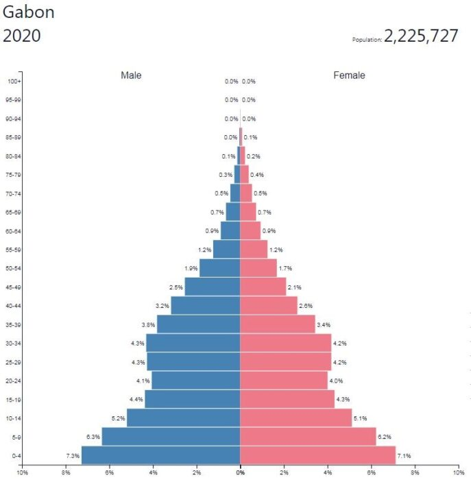Gabon Population Pyramid