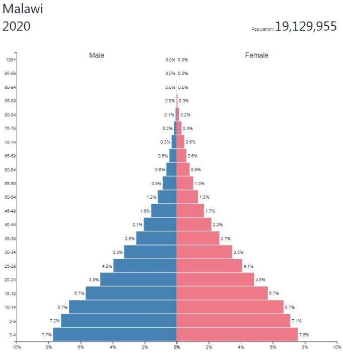 Malawi Population Pyramid