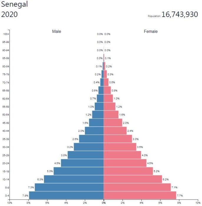 Senegal Population Pyramid