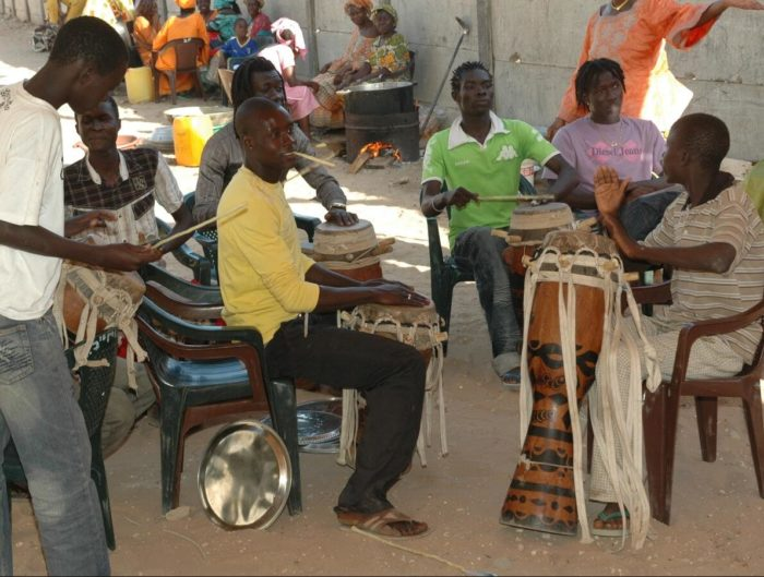 Wolof musicians play at a wedding in Dakar, 2009